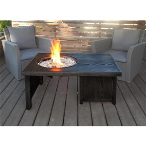 Anna Convertible 41.73-in Brown Table Fire Pit