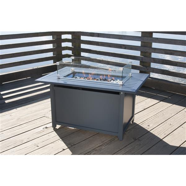 "Gale Convertible Fire Pit Table - 23.62"" - Gray"