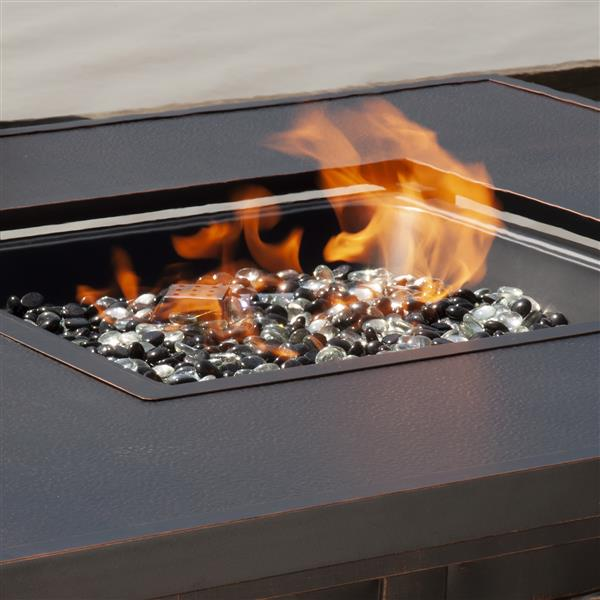 Eva Convertible 41.73-in Bronze Table Fire Pit