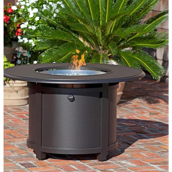 Round Convertible 41.73-in Bronze Fire Pit Table