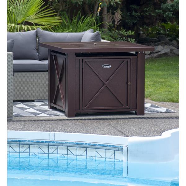 Kenneth 37.8-in Bronze Propane Outdoor Fireplace