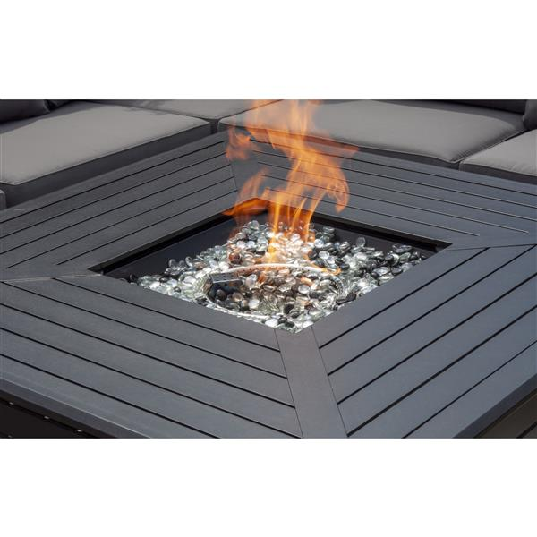 Propane 44.88-in Bronze Outdoor Fireplace