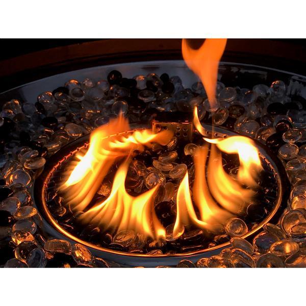 Propane 47.25-in Bronze Outdoor Fireplace