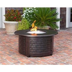 Propane 47.25-in Bronze Outdoor Fireplace