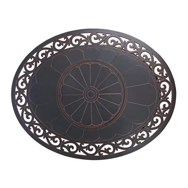 Angie Oval Convertible 49.6-in Bronze Table Fire Pit