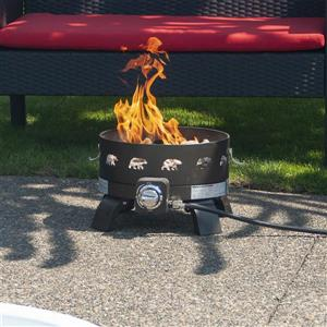 Paramount Portable 17.71-in Black Propane Fire Pit