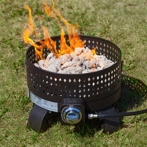 Paramount Portable 17.71-in Bronze Propane Fire Pit