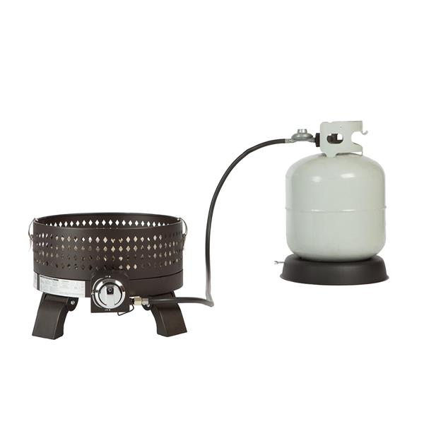 "Foyer portable au propane, 17,71"", bronze"