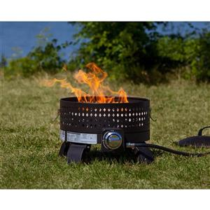 Portable 17.71-in Bronze Propane Fire Pit