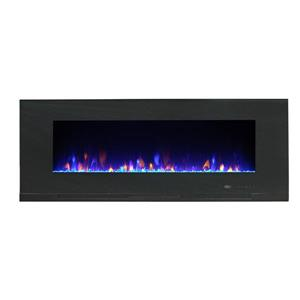 Paramount Mirage Wall Mount 20.08-in x 50-in Black Electric Fireplace