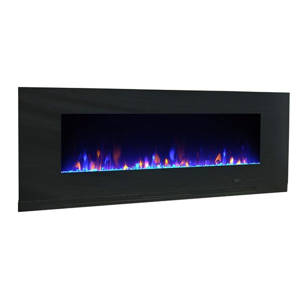 Paramount Mirage Wall Mount 24.8-in x 64.2-in Black Electric Fireplace