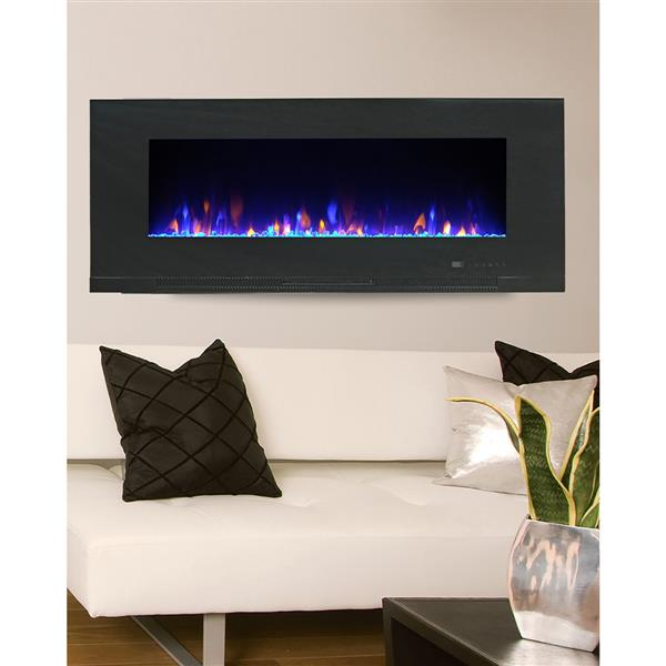 Paramount Mirage Wall Mount 20.08-in x 42-in Black Electric Fireplace