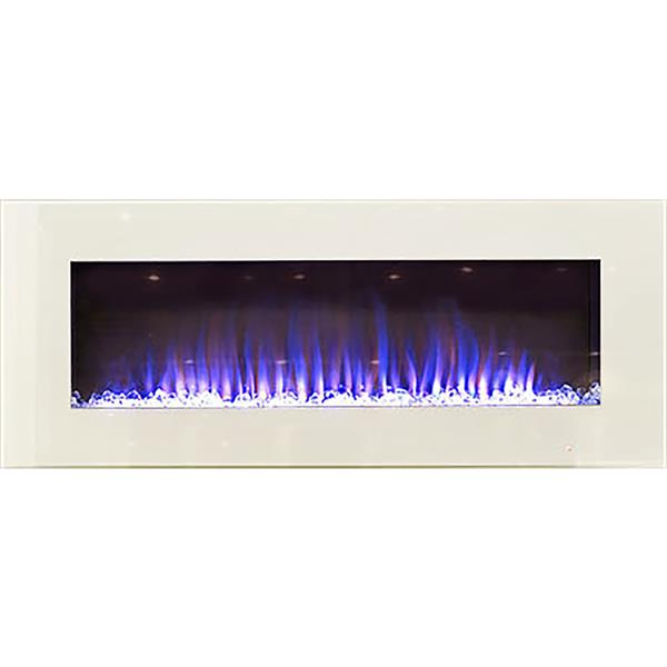 Paramount 20-in x 50-in White Wall Mount Electric Fireplace