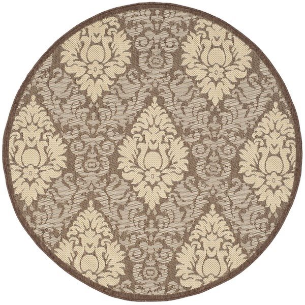 Safavieh Courtyard 7-ft x 7-ft Rectangle Brown Indoor/Outdoor Area Rug
