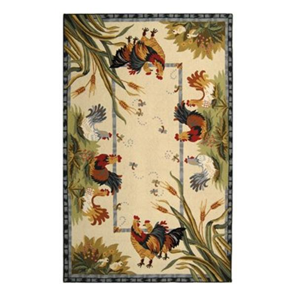 Safavieh Chelsea 5.75-ft x 3.75-ft Ivory and Multicolour Area Rug