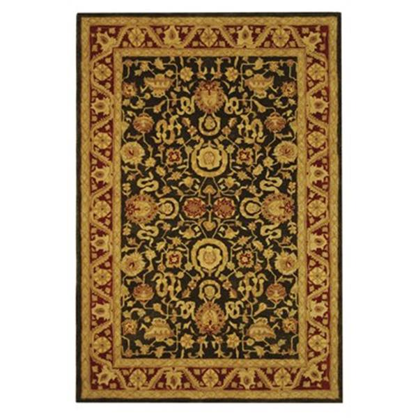 Safavieh Anatolia 27-in Charcoal/Red Runner