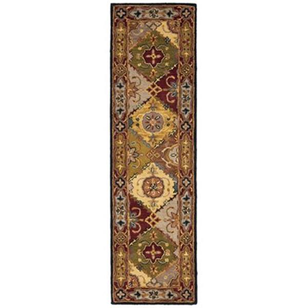 Safavieh Heritage 27-in Multi/Red Runner