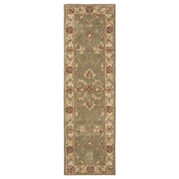 Safavieh Heritage 27-in Green/Gold Runner