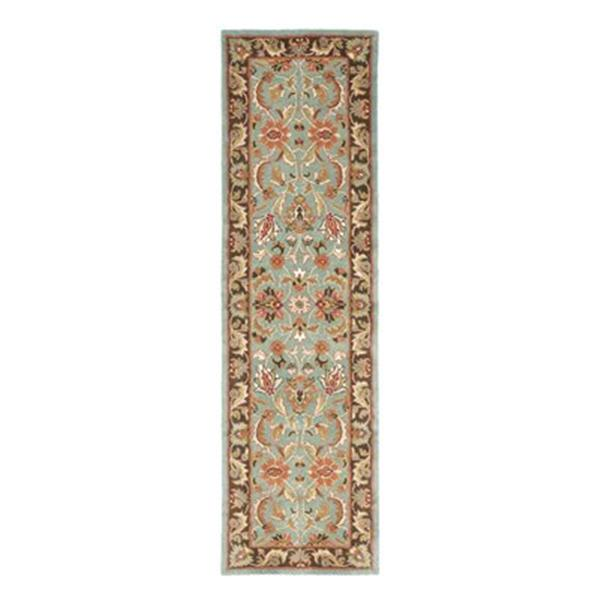 Safavieh Heritage 27-in Blue/Brown Runner
