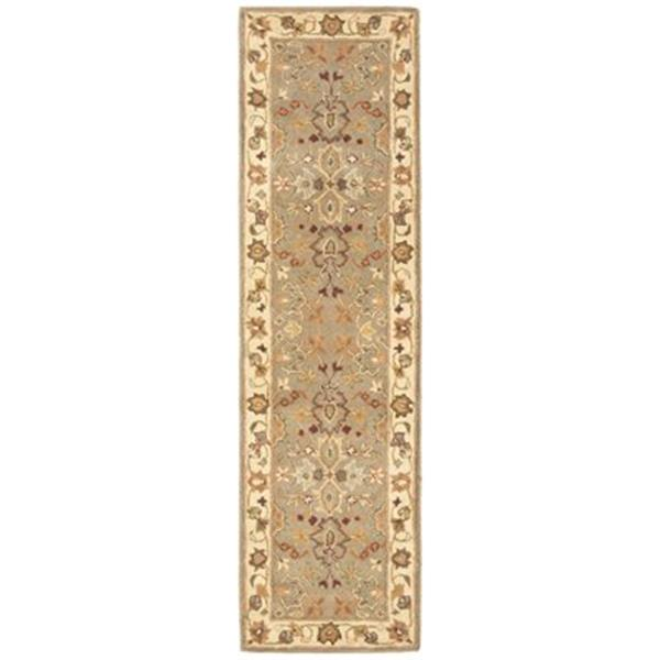Safavieh Heritage 27-in Light Green/Beige Runner