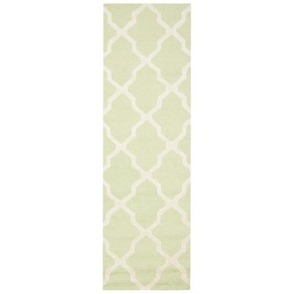 Safavieh Cambridge 30-in Light Green/Ivory Runner