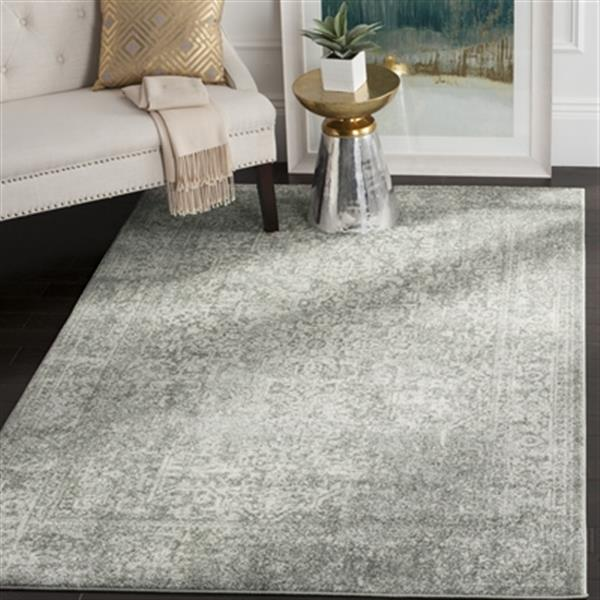 Safavieh Evoke 15-ft x 2.16-ft Silver and Ivory Indoor Area Rug