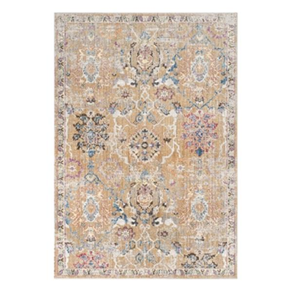 Safavieh Bristol 4-ft x 6-ft Camel and Blue Area Rug