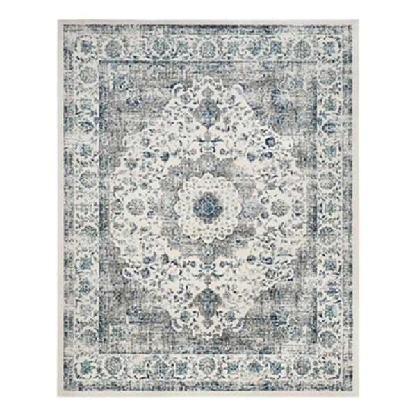 Safavieh Evoke 2-ft x 15-ft Grey and Ivory Indoor Area Rug/Runner EVK220D-215