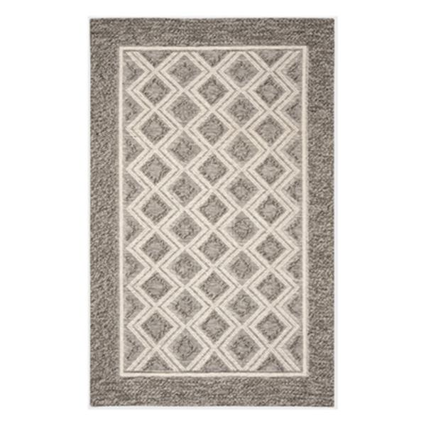Safavieh Vermont 4-ft x 6-ft Grey and Ivory Rectangular Hand Woven Area Rug
