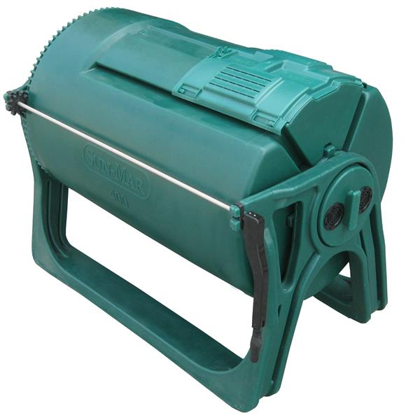 Composteur à tambour, 100 gallons, vert