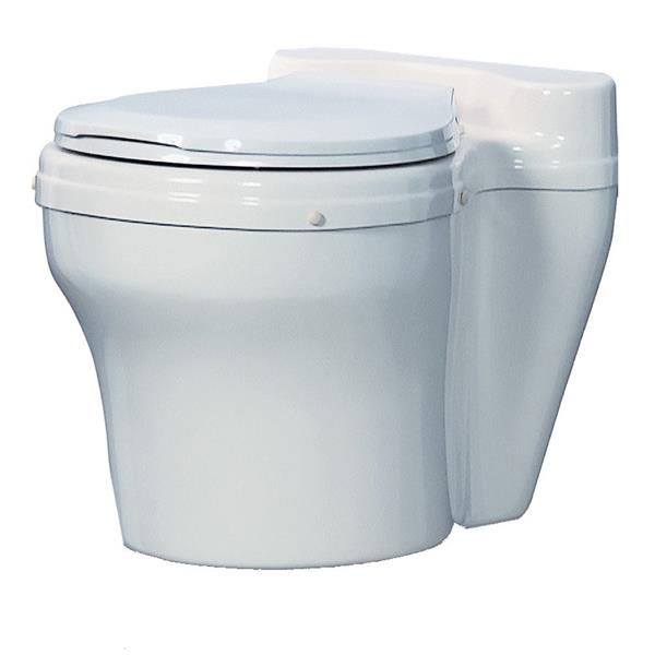 Sun-Mar Round White Waterless Toilet