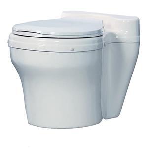 Sun-Mar Round White Waterless Toilet