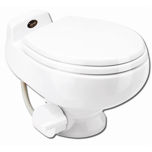 Toilette à très faible débit en céramique, blanche