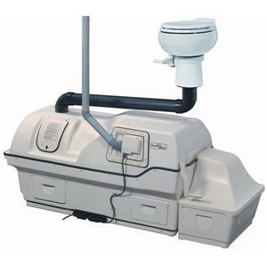 Système électrique central toilette compost, grande capacité