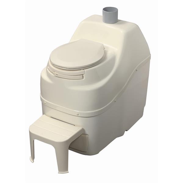 Toilette à compost, non électrique, grande capacité, beige