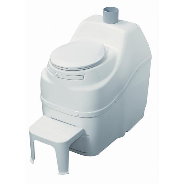 Toilette à compost non électrique, grande capacité, blanc