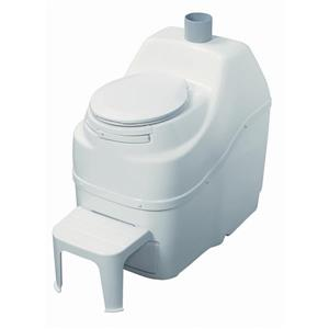 Sun-Mar Composting White High Capacity Non-Electric Toilet