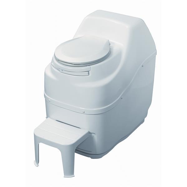 Toilette à compost électrique, grande capacité, blanc