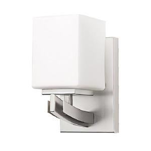 Russell Lighting Crafton Vanity Light- 1 Light - 4.75-in - Brushed Chrome