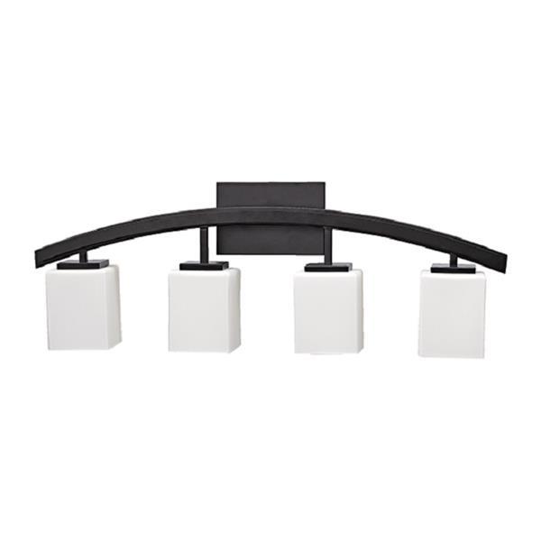 """Lumière de vanité Crafton, 4 lumières, 30"""", noir"""