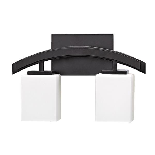 Russell Lighting Crafton Vanity Light - 2 Lights - 15-in - Black