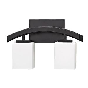 Russell Lighting Crafton Vanity Light - 2 Lights - 15-in - Black