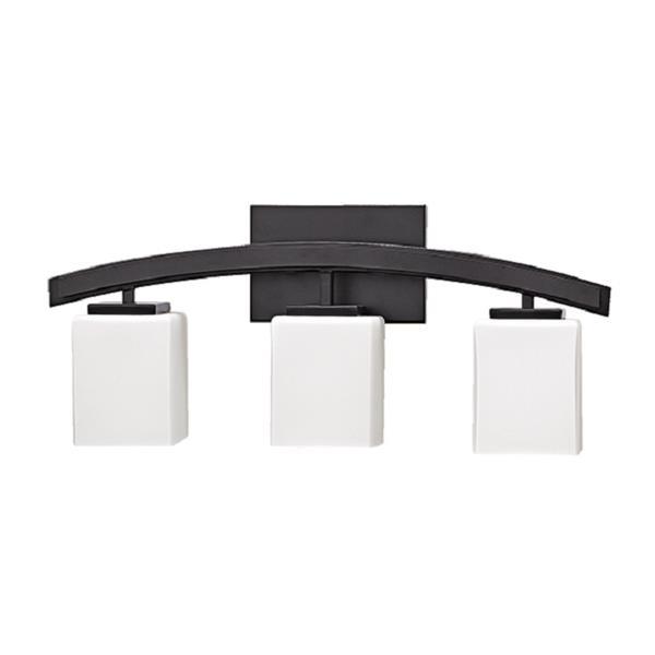 """Russell Lighting Crafton Vanity Light - 3 Lights - 22.25"""" - Black"""
