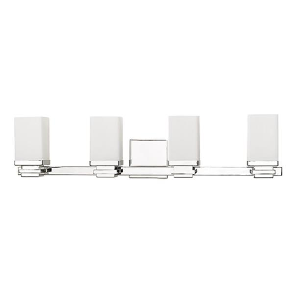 Russell Lighting 4-Light Wall-Mounted Light - 28-in - Chrome