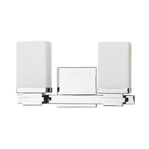 Russell Lighting 2 Light Wall Mounted Light 12-in Chrome