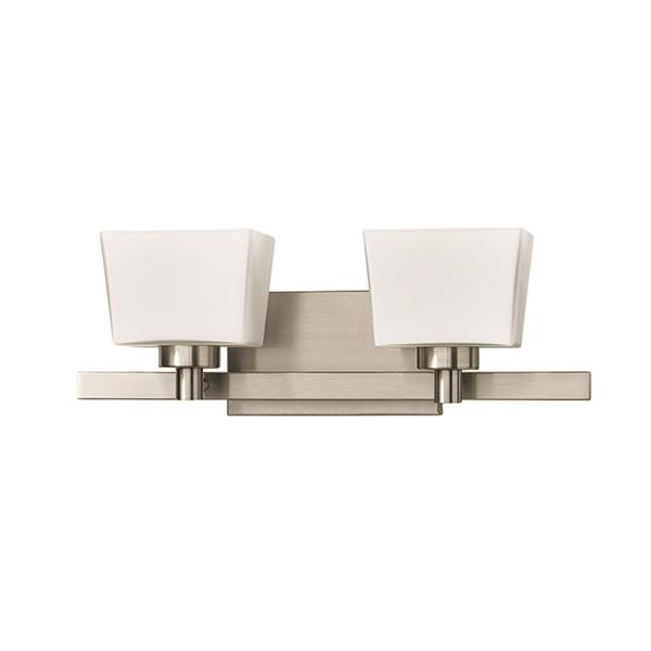 Russell Lighting 2-Light Wall-Mounted Light - 19-in - Brushed Chrome