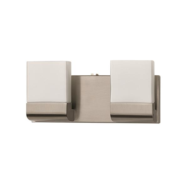 Russell Lighting 2-Light Wall-Mounted Light - 12.5-in- Brushed Chrome