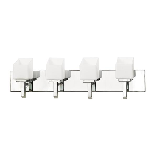 Russell Lighting Wall Mounted Light 4 Lights 29-in Polished Chrome