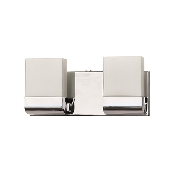 Russell Lighting 2-Light Wall-Mounted Light- 12.5-in- Polished Chrome