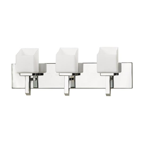 Russell Lighting Wall Mounted Light 3 Lights 22-in Polished Chrome